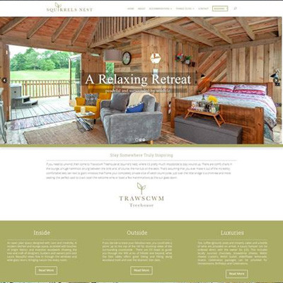 New Website Design for Squirrels Nest