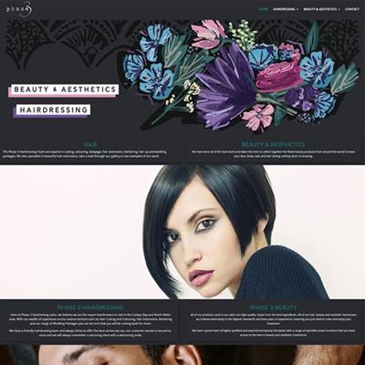 Redesign for Phase 3 Hairdressing Website